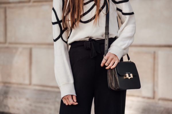 black bag with grey Details