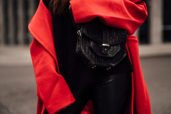 structured black bag