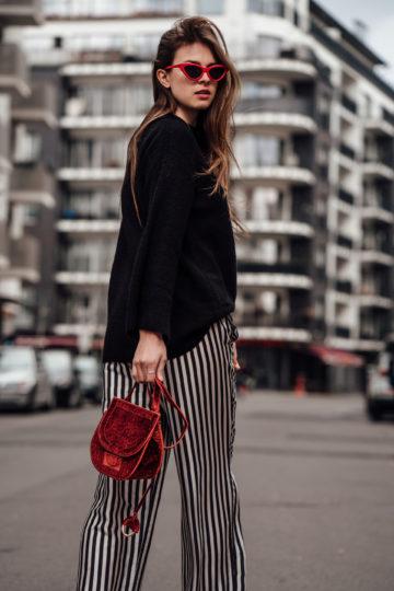 How to style: so trägt man eine gestreifte Hose