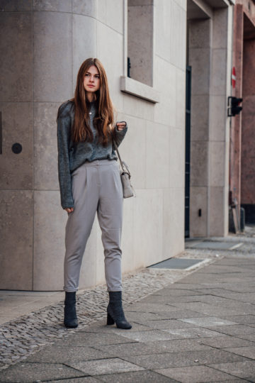 light grey clothes pants from Vila