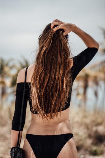schulterfreier Bikini