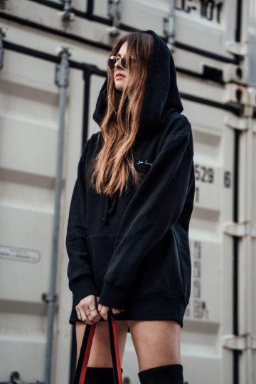 Hoodie with oversized hood