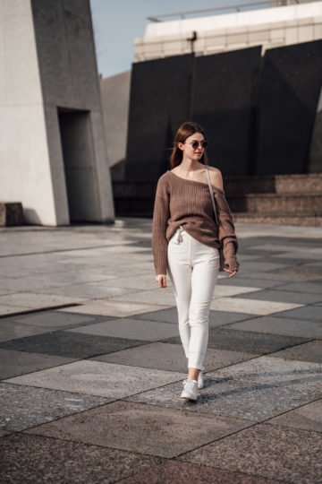 White-Pants-One-Shoulder-Sweater-2
