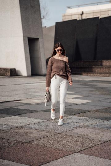 weiße Missguided Hose