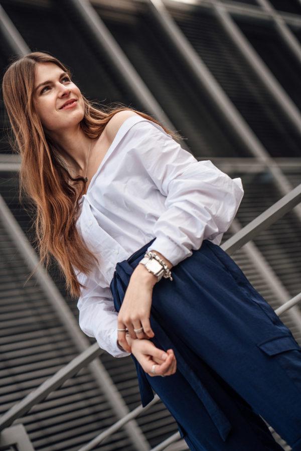weiße Parmigiani Uhr