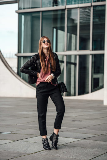 schwarze Hose von Reserved