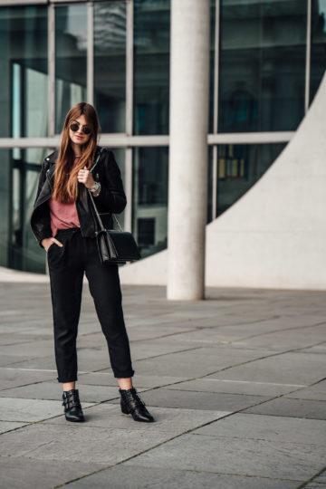 how to combine black pants