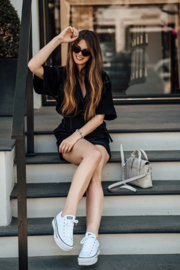 how to wear Platform Sneakers