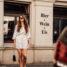 Fashion Week Outfit: weißes Kleid mit Punkten