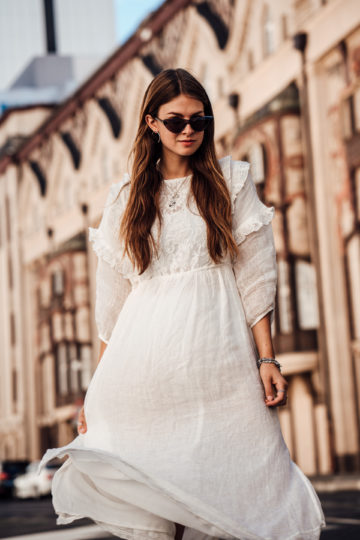 white Boho dress summer