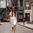 New York Streetstyle: White Button Down Dress