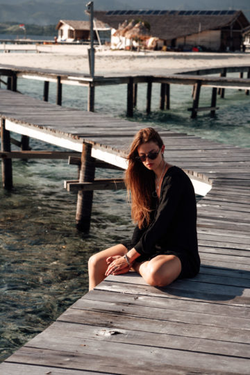 Gorontalo Vacation Outfit: Black Beach Dress