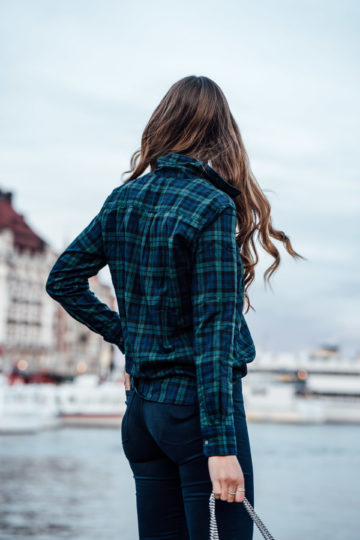 how to style tartan print
