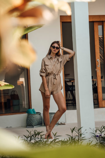beige Loavies Playsuit