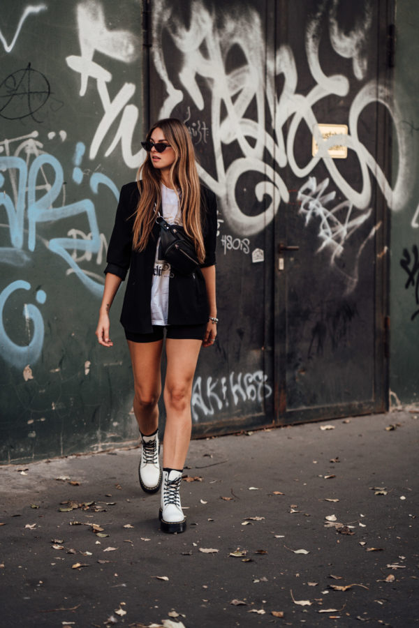 Schwarz weißes Outfit