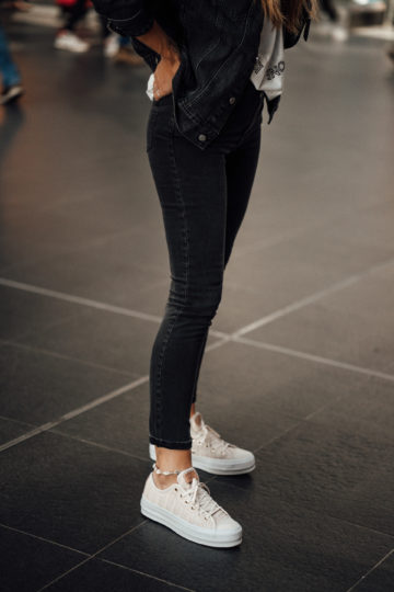 how to style Platform Sneakers