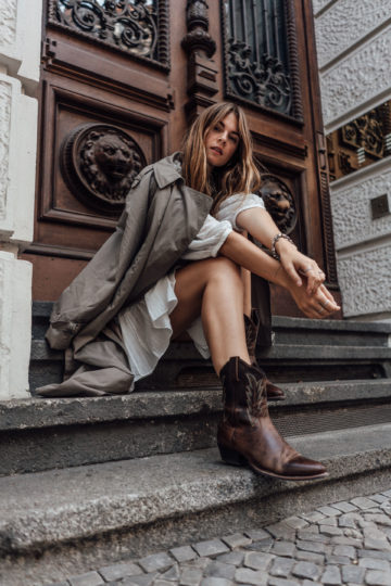 Herbstoutfit mit Cowboy Stiefeln gefunden bei eBay Fashion