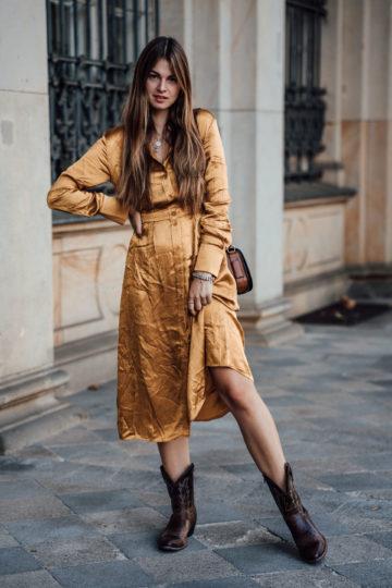 how to wear a Midi dress