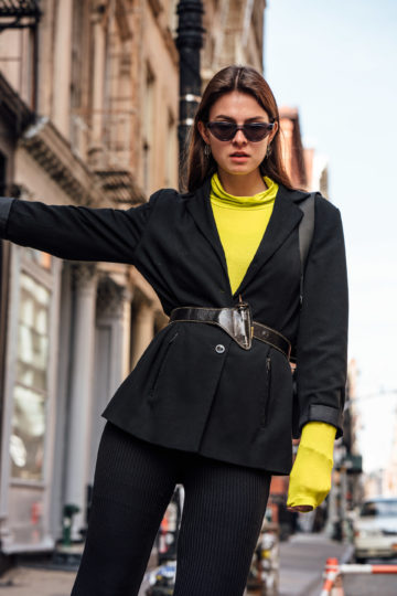how to wear neon this spring