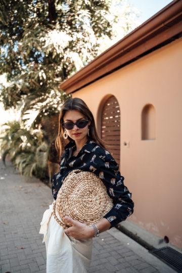 round Onvacay Beach Bag