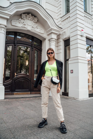 How to style a neon top