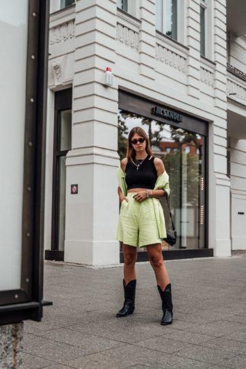 neon green Shorts